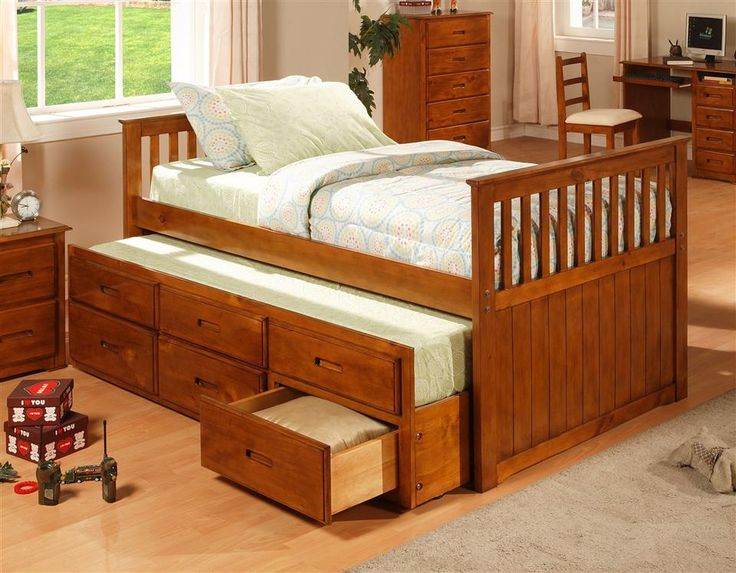 Twin size captains bed w storage for the home pinterest