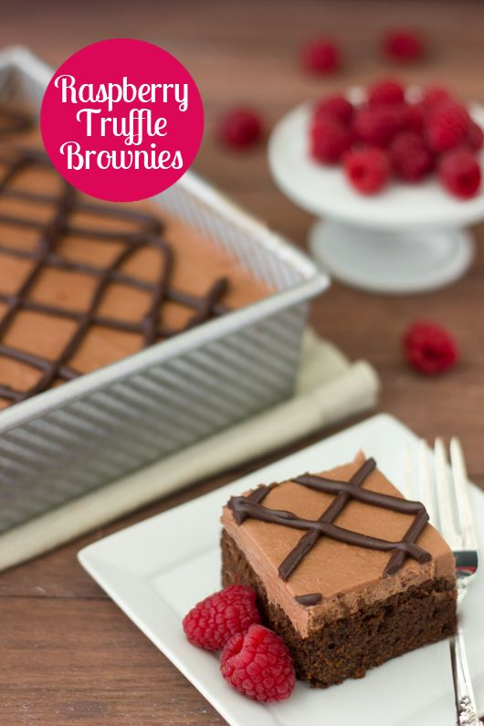 decadent recipe for Raspberry Truffle Brownies