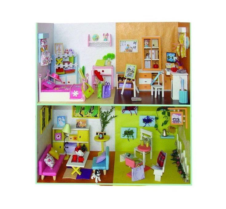 Diy moreover dollhouse miniature nursery room furniture wooden rocking