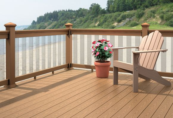 Awesome how to create a deck that connects to your house for Garden decking hinckley