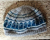 Knitting Pattern T.A.R.D.I.S. Slouch Beanie  Doctor Who Summer or Winter hat design. via Etsy.