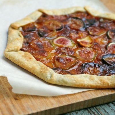 Fresh Fig Tart with Marmalade and Brie | Recipe
