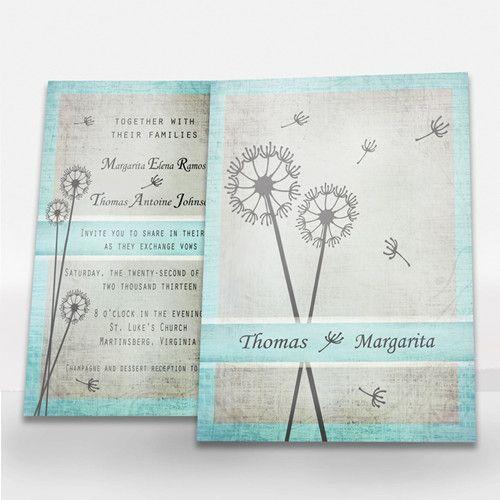 colors top dandelion wedding ideas and invitations invitesweddings