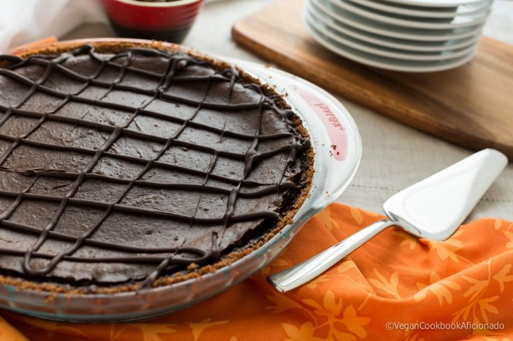 Triple Chocolate Pumpkin Pie - The Vegan Cookbook Aficionado