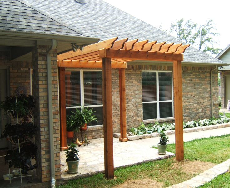 Small Pergola for patio  House Ideas  Pinterest