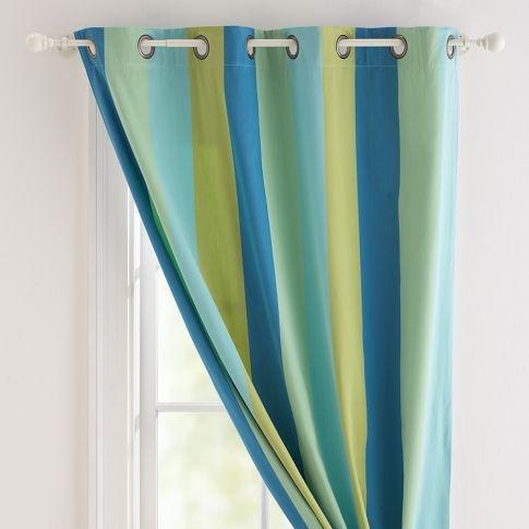 blue aqua yellow panel curtains kitchen ideas pinterest