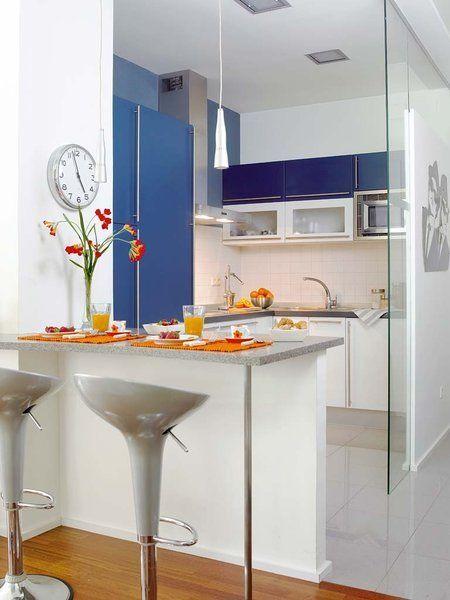 Cocina abierta con barra de desayuno cocinas pinterest for Cocinas con barra de desayuno