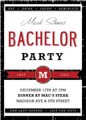 Bachelor Party Invitation Templates for luxury invitations design