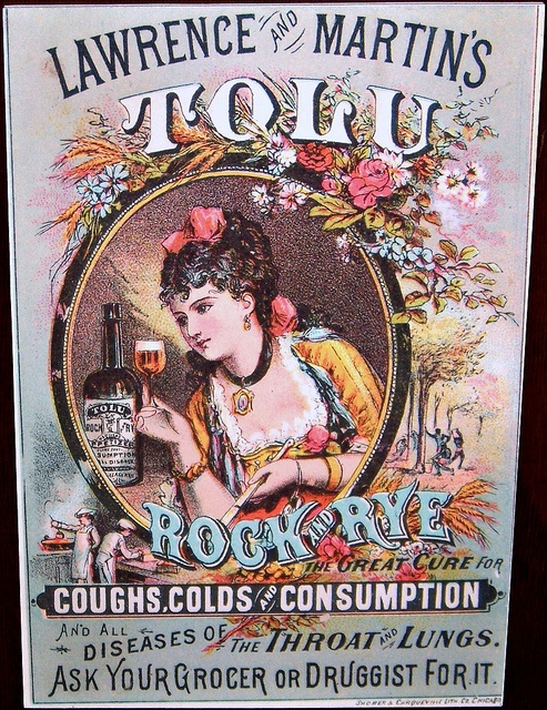 Tolu had a high alcohol content as did many patent medicines. No wonder people felt better after taking them.