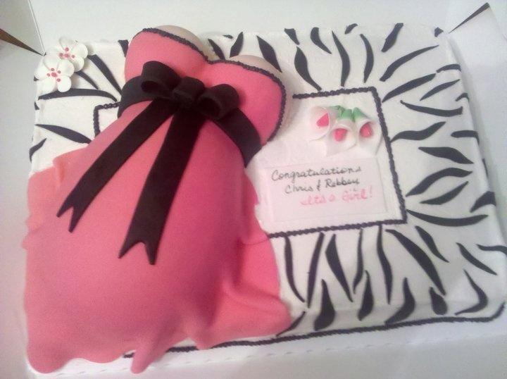 Pregnant Belly Cake Zebra
