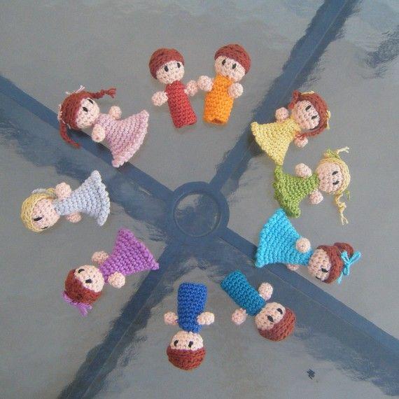 Amigurumi Finger Puppet PDF Crochet Pattern INSTANT ...