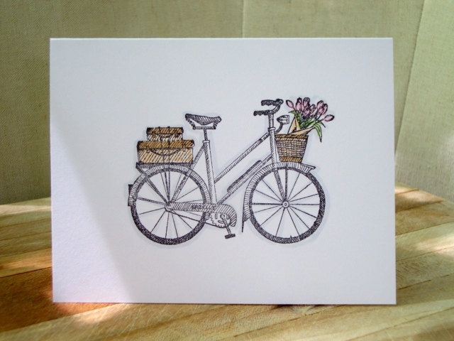 Cute little bicycle note cards