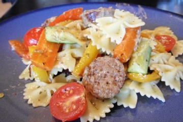Pasta Primavera w Turkey Sausage | food and beverages. | Pinterest