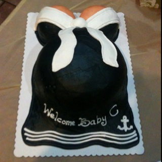 baby shower cake for my sis her husband is in the navy i had heb do