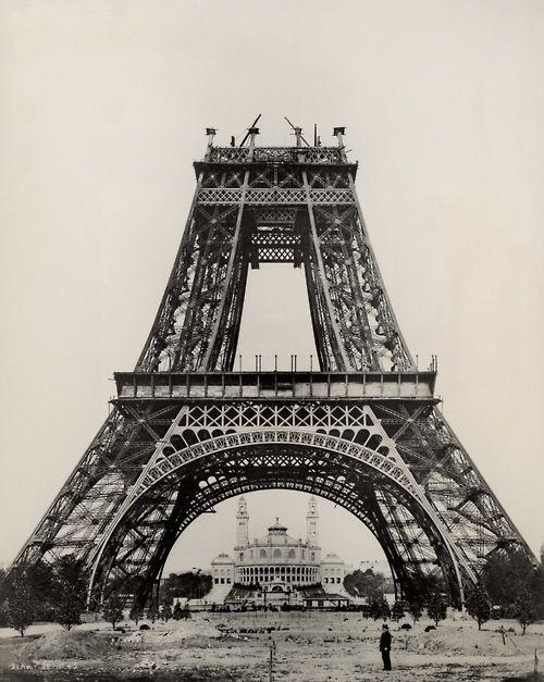 Eiffel Tower Being Built Paris Is Forever Pinterest