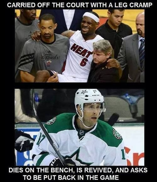 Damn straight. Hockey players are bad ass men. I'm a Blackhawks girl, but I'm glad Peverley is okay and pray his surgery goes well!