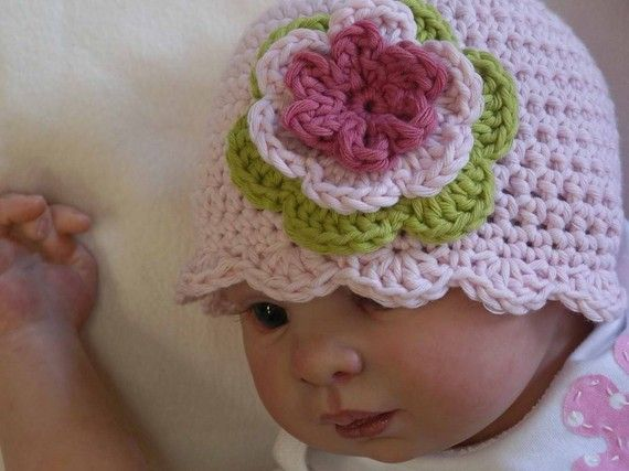 Bubnut Crochet Patterns : Crochet Hat Pattern - Easy Peasy Shell Trim Baby Hat Crochet Pattern ...