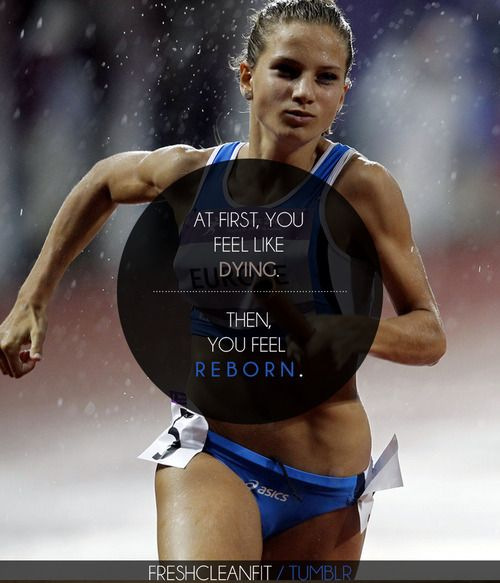 so true, at the end of running miles you find this sudden burst of energy to sprint the last strech and you feel like your floating on air and you cant think about anything but crossing the finish line.
