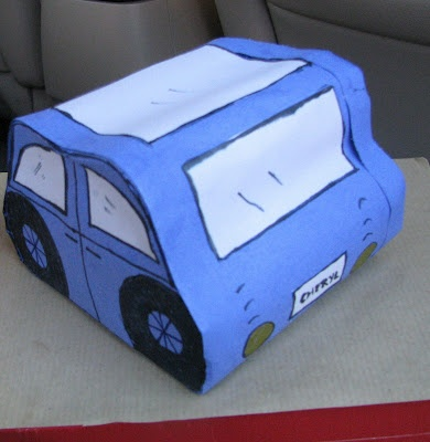 Paper mache toilet paper roll car transportation pinterest for How to make a paper car that rolls