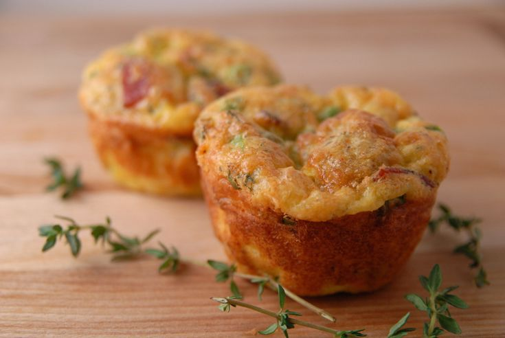 Savory bread pudding muffin | Breakfast | Pinterest