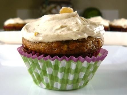 Zucchini Ginger Cupcakes | A muffin is an ugly cupcake. | Pinterest