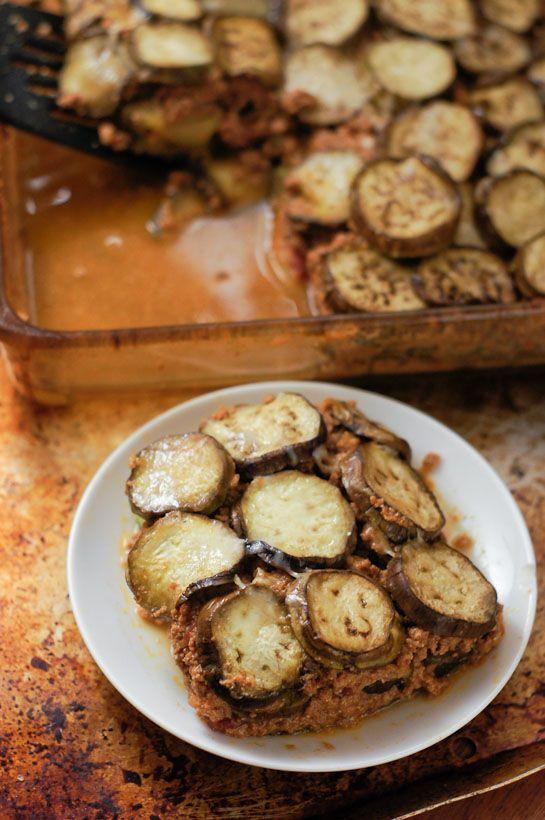 No Noodles, Easy Zucchini & Eggplant Lasagna | thumb in plum