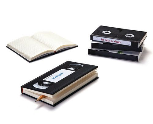 Notebooks modeled after old VHS tapes!