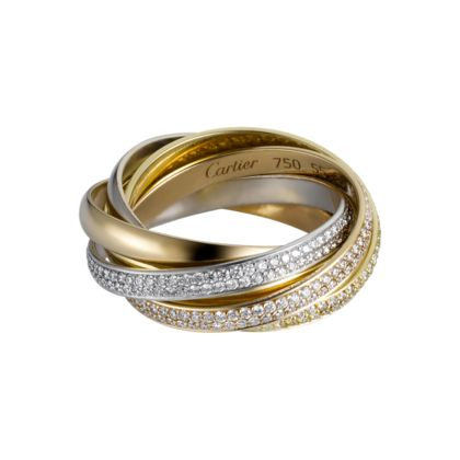 TWO FOR TRINITY RING 3-gold, diamonds  Jewelry/Watches .... the most ...