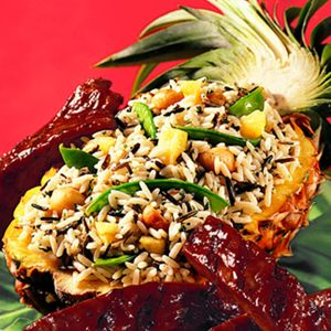 Tropical Rice - takes only 35 minutes! I used can pineapple since it ...