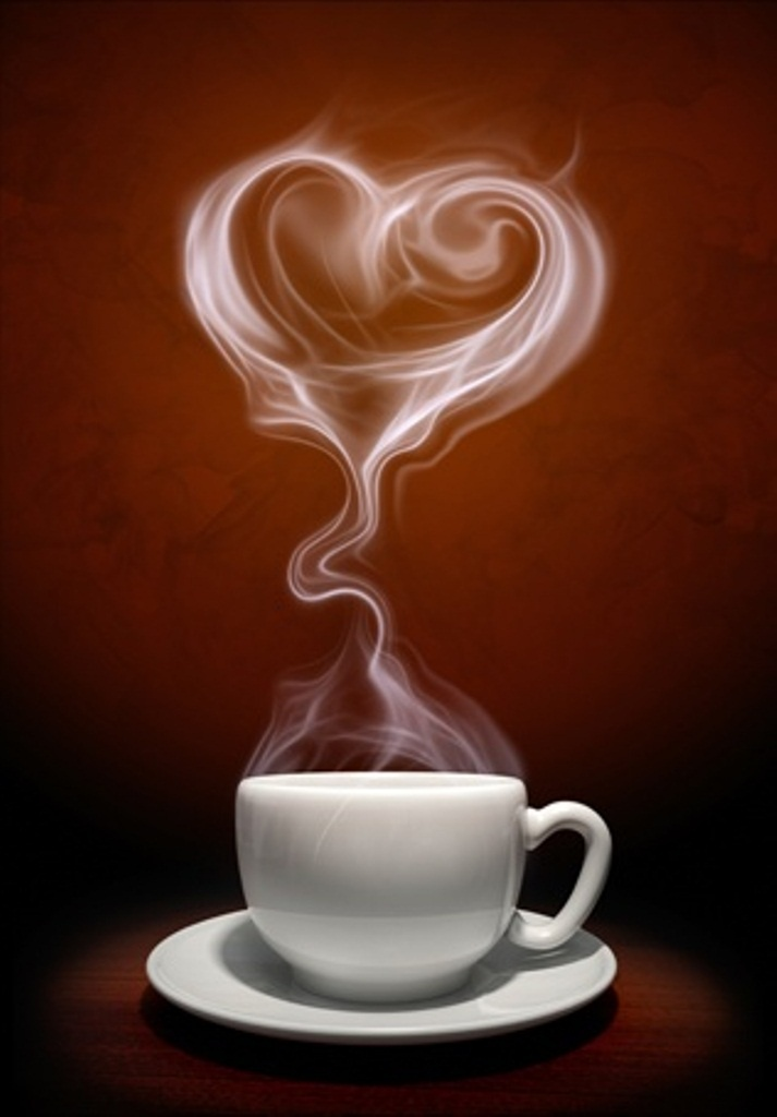 Coffee Heart Steam Steaming Cups Pinterest