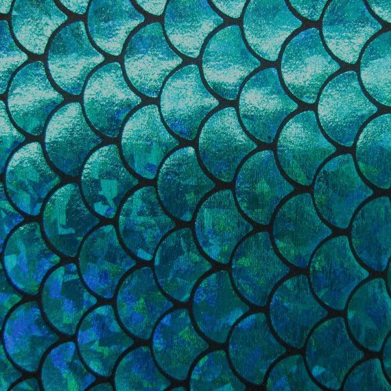 Big fish scale blue 58 inches wide fabric by the yard for Fish scale fabric