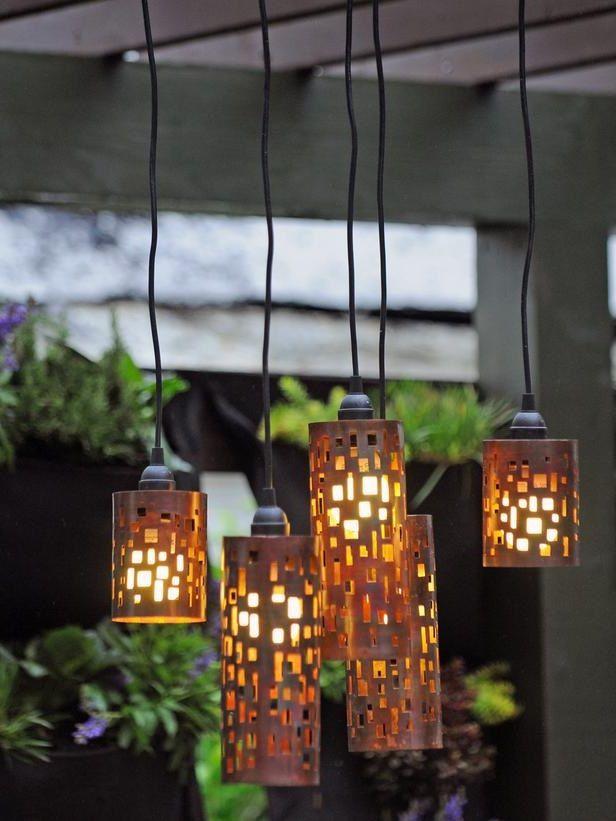 wohnzimmerlampen holz:DIY Outdoor Candle Lanterns