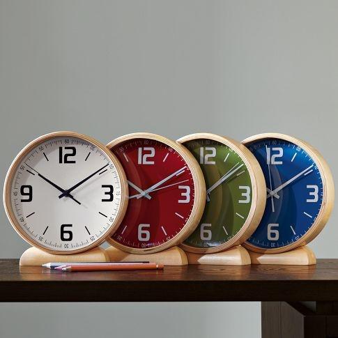 West Elm mantle clocks