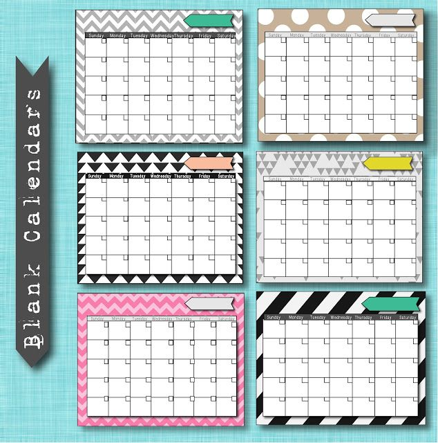 Calendar Diy Printable : Free blank calendar printables diy ideas pinterest