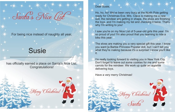 Pin by michelle morgan on holidays pinterest for Nice list santa letter