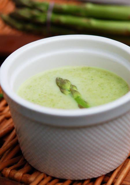 SOUP WITH CREME FRAICHE *Saucepan. http://turvs.net/asparagus-soup ...