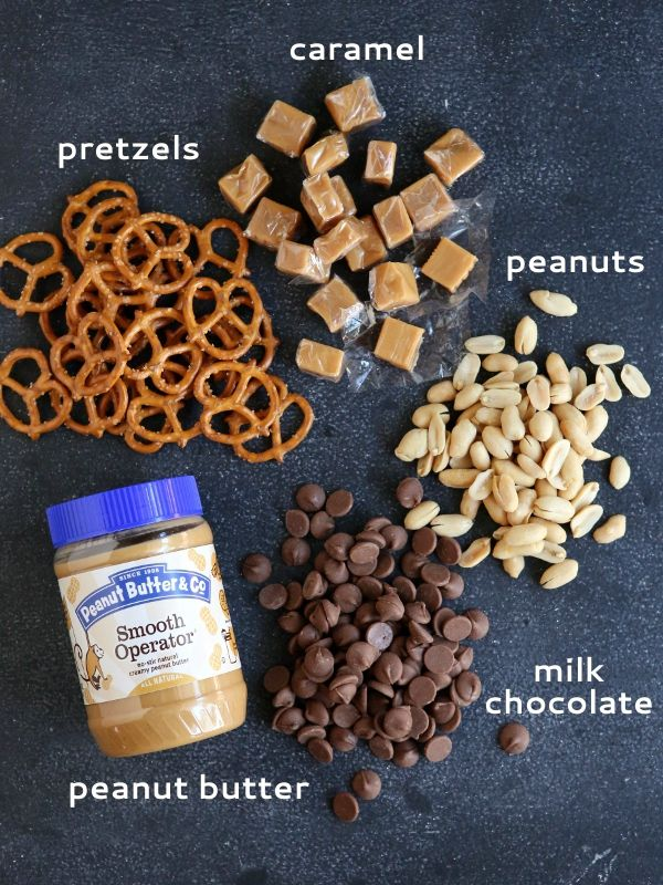 , Peanut Butter, Caramel and Pretzel Candy Bars (Homemade Take 5 Bars ...