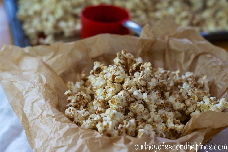 Super Bowl Snacks - Sugar and Spice Popcorn
