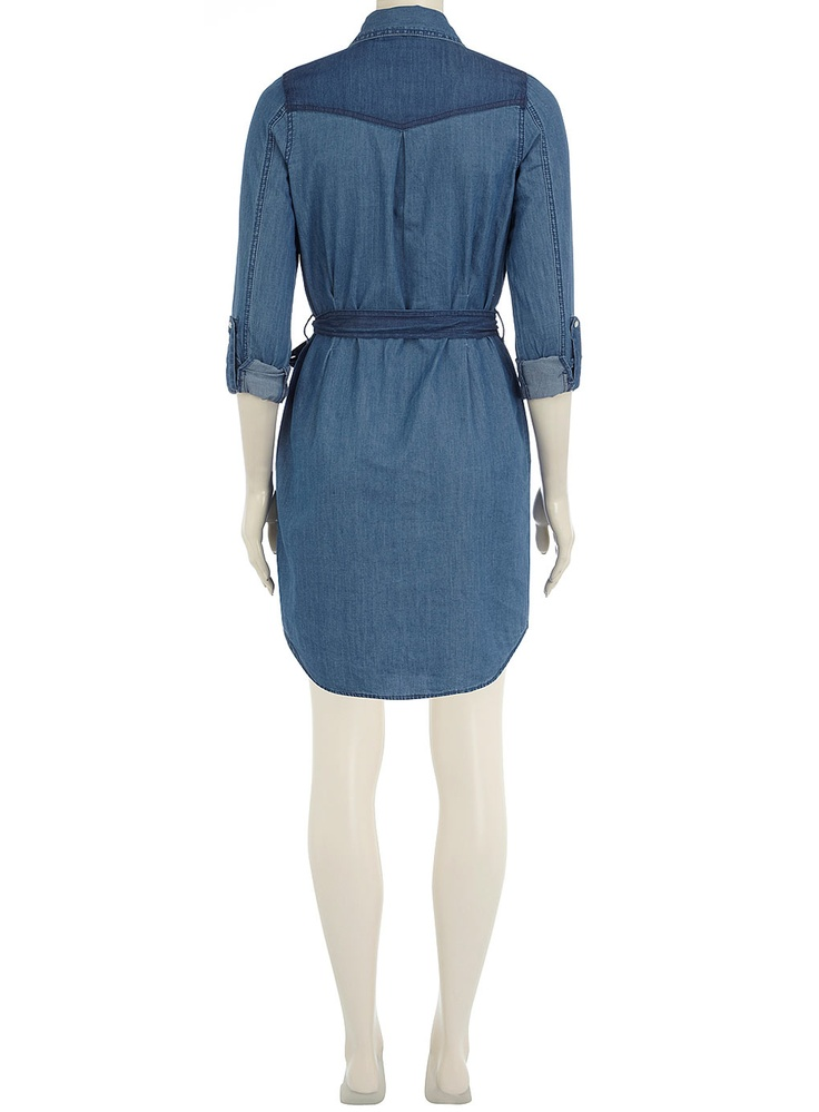 Stud collar denim shirt dress - View All - Dresses - Dorothy Perkins