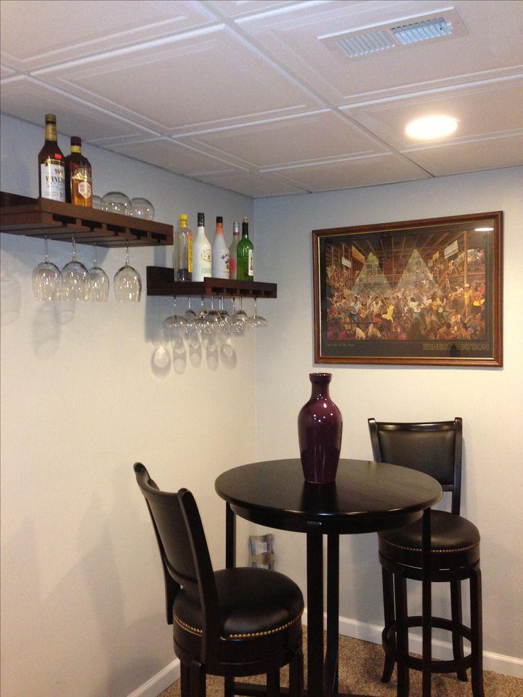 basement bar area jen inumerable bar height table