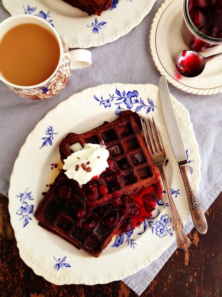 dark chocolate waffles @ sweetsugarbean | eat it {breakfast} | Pinter ...