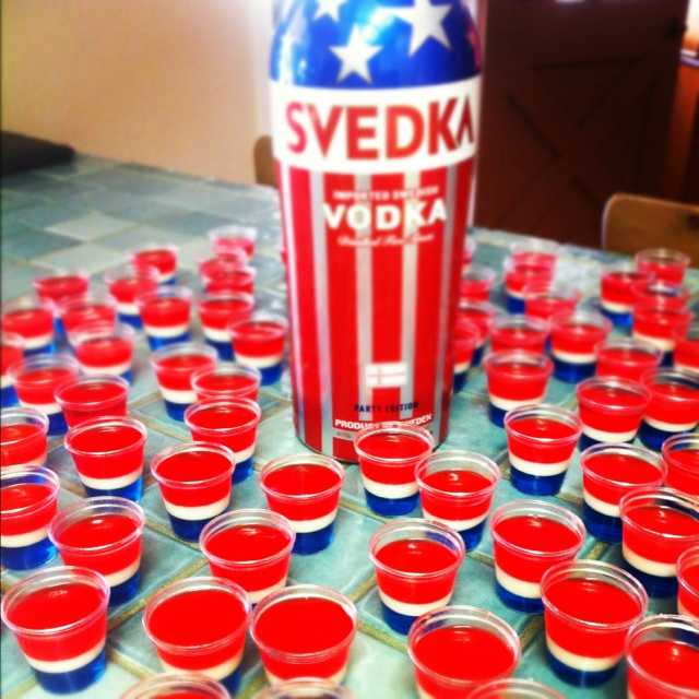 fourth of july jello cupcakes