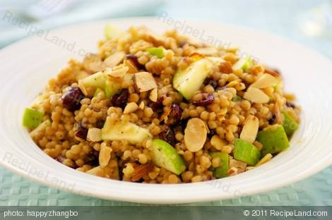 Israeli Couscous, Apple and Cranberry Salad with Toasted Almonds ( or ...