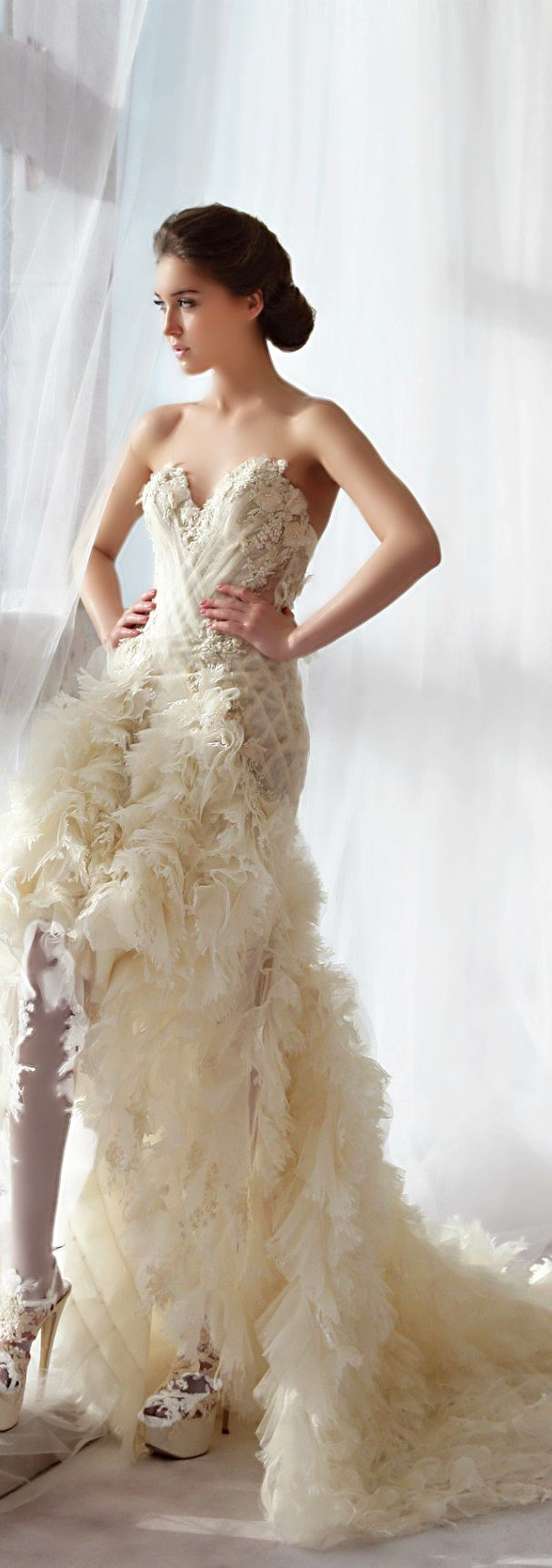 Wedding dress ziad nakad blanche pinterest for Ziad nakad wedding dresses