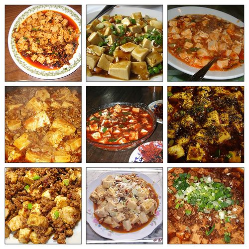 Mapo Tofu. A popular Chinese dish from Szechuan with tofu in spicy ...
