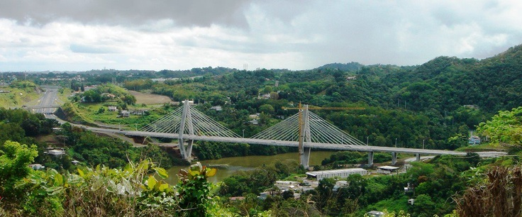 Suspension bridge, Naranjito Puerto Rico.