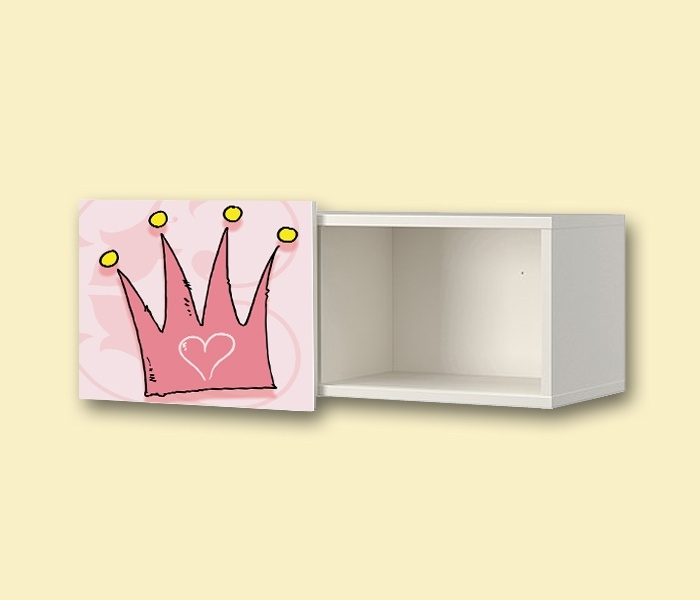 Kinderzimmer Wandschrank IKEA BRIMNES  Aufkleber  Princess
