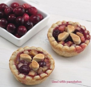 """... Spiced Cranberry Pear Mini Pie recipe from our """"Mini Pies"""" cook..."""