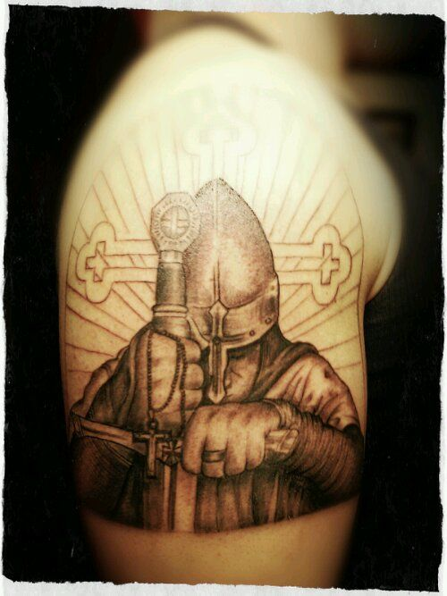Crusader tattoo, yet unfinished. | Robert | Pinterest