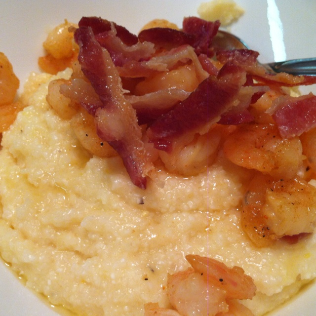 Shrimp & grits (& bacon) | Breakfast and Brunch | Pinterest